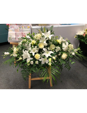 4ft Coffin Spray - White...