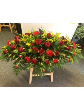 4ft Coffin Spray-Red...